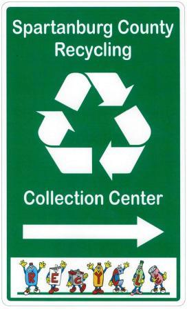 recycling center sign small
